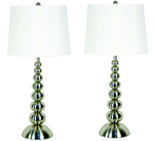 Kenroy Home 20116BS - Baubles 2-Pack Table Lamp