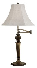 Kenroy Home 20616GBRZ - Mackinley Swing Arm Table Lamp