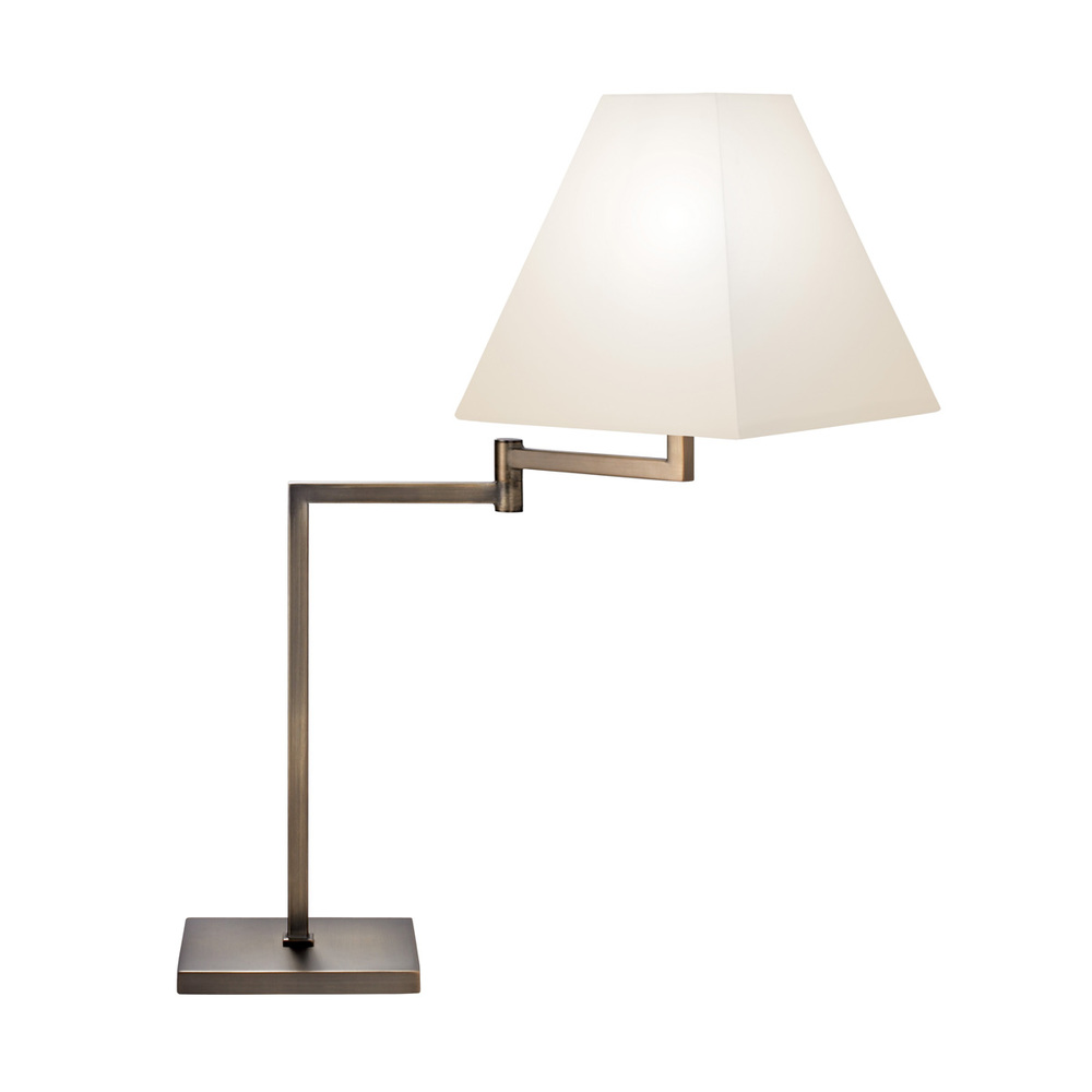 One Light Bronze Table Lamp