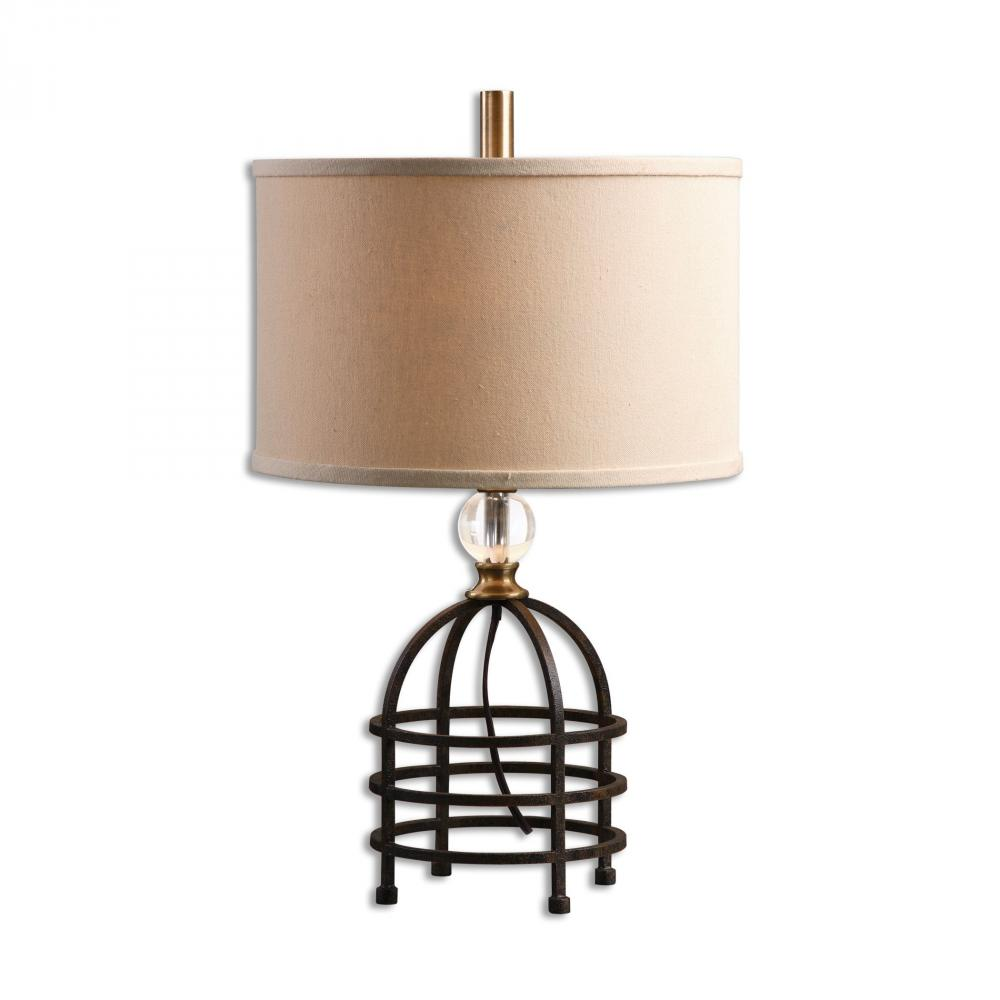 United Lighting in Pensacola, Florida, United States, Uttermost 29183-1, Uttermost Ladonia Rust Black Table Lamp, Ladonia
